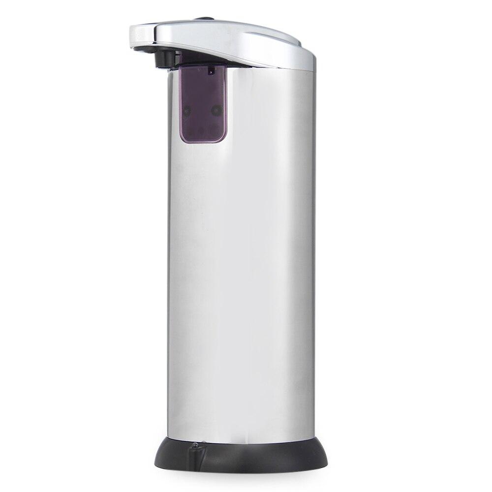 Dispensador de jabón líquido Sensor automático de acero inoxidable AD-02 dispensador de jabón sin contacto para cocina de 280 ml