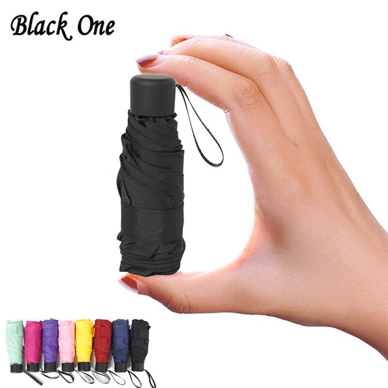 180g pequeña de moda plegable paraguas de lluvia mujeres regalo de los hombres de bolsillo Mini sombrilla chicas anti-UV a prueba de agua portátil de paraguas