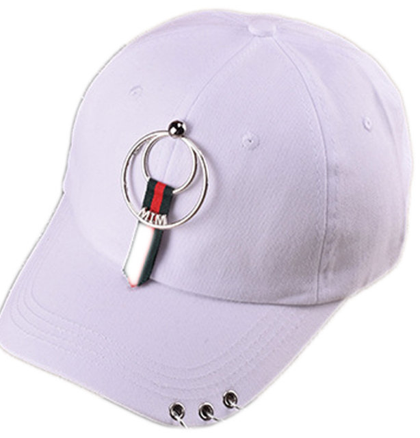 pink sparkle baseball cap new fashion women sequin caps teenager metal ring hip hop casual street assortment red hat