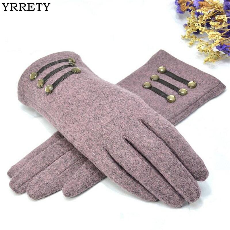 YRRETY Womens Outdoor Cashmere Gloves Au
