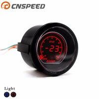 Free Shipping CNSPEED 2''52mm EVO Digital Auto Turbo Boost Gauge 30~35 Psi Led Light Turbo Boost Meter with sensor