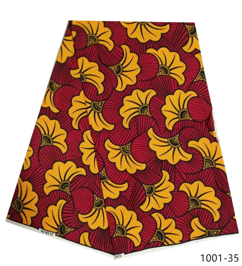 Fashion african nigerian ankara mauritania wax printed cotton fabric 100 Polyester soft regular real veritable wax