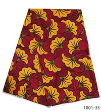Fashion african nigerian ankara mauritania wax printed cotton fabric 100% Polyester soft regular real veritable for women