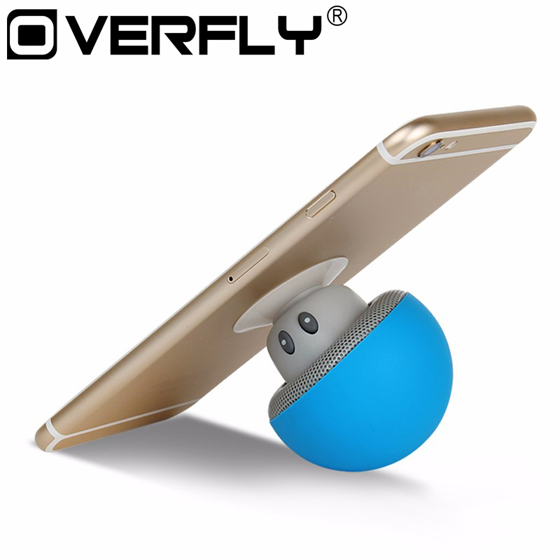 Portable Wireless Bluetooth Music Speaker with Handsfree Call Loudspeaker Suction Cup Stand for Android iOS Device