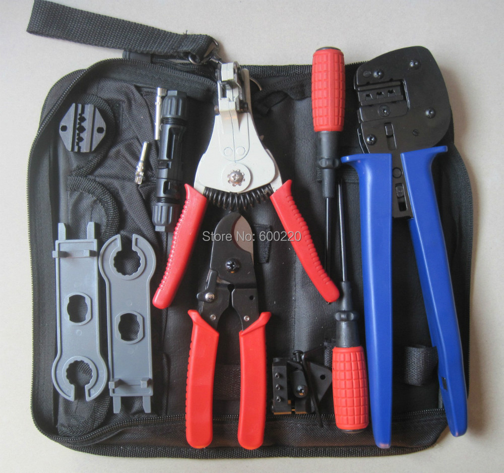 MC4/MC3 Crimper/Solar pv Crimping Tool Kits for 2.5-6.0mm2 MC3/MC4 connectors,solar tool set 1pcs crimper solar crimping tool kits for 2 5 6 0mm2 mc3 mc4 connectors cable cutter pv crimp tools solar system connect
