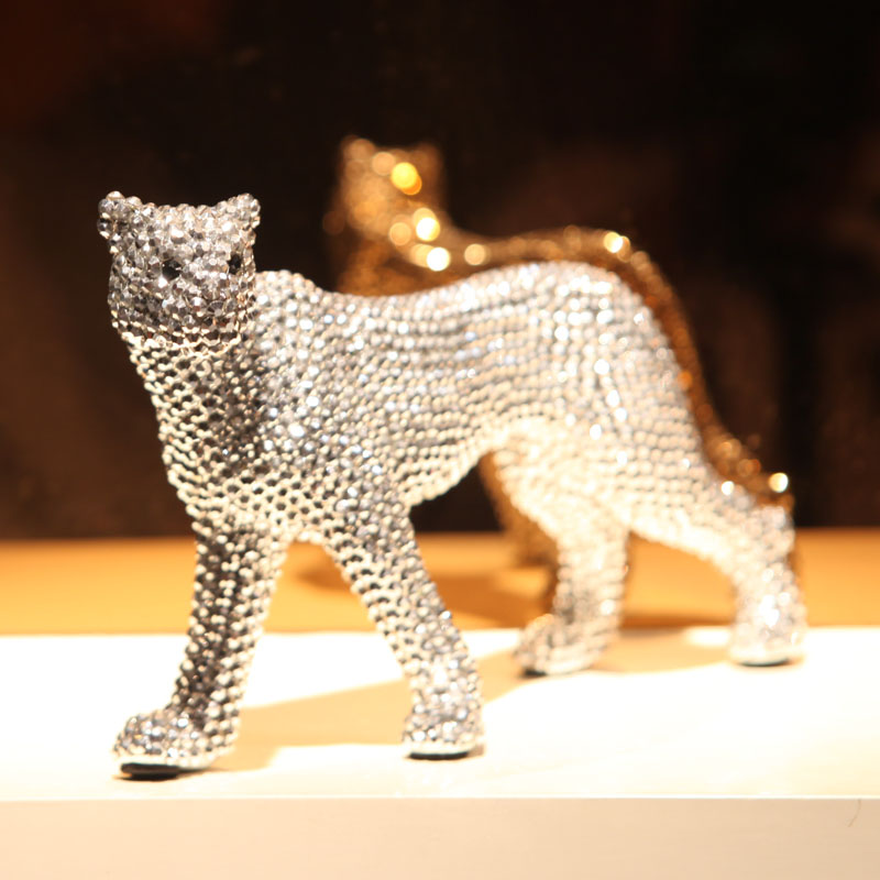 Creative home decoration leopard animal diamond ornaments decorative ceramic crafts ornaments housewarming gift new home giftCreative home decoration leopard animal diamond ornaments decorative ceramic crafts ornaments housewarming gift new home gift