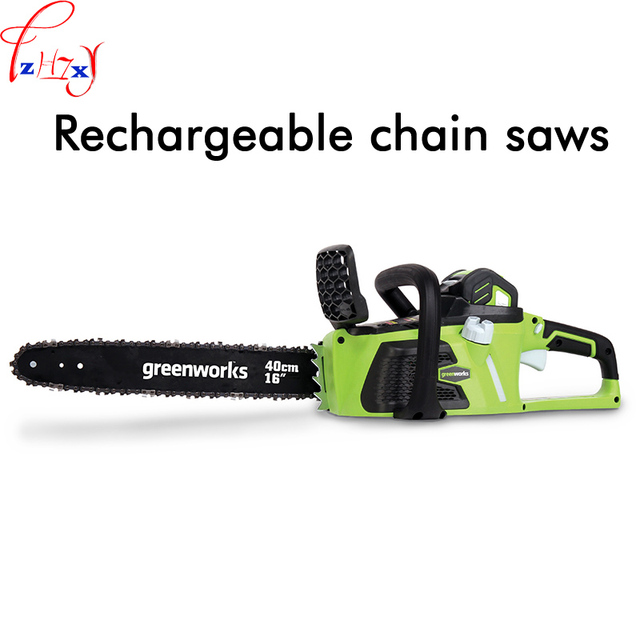 1000-1200W 1PC Charging chain saw household electric hand - held wood cutting saw 40V lithium battery saw
