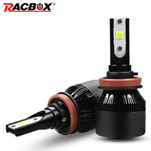 RACBOX 72W 8000LM H1 H4 H7 H8 H9 H11 HB3 HB4 9005 9006 Car LED Headlight Bulb High Low 12V 24V White 6000K(China)