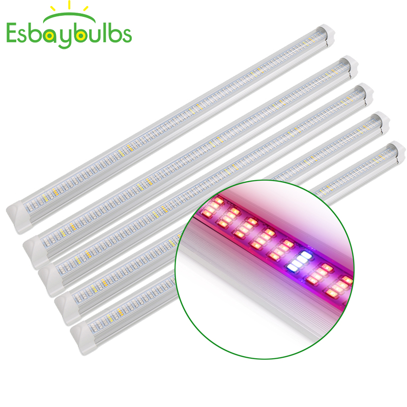 5Pcs 30W 45W 60W LED T8 Tube Full Spectrum LED Grow Light Bar Plant Grow Light