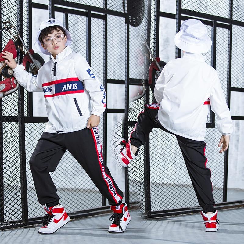 Kids Hip Hop Clothing For Girls Boys Coat Jogger Pants Kids Jazz Dance Costumes Set Ballroom Dancing Clothes Children Outfits