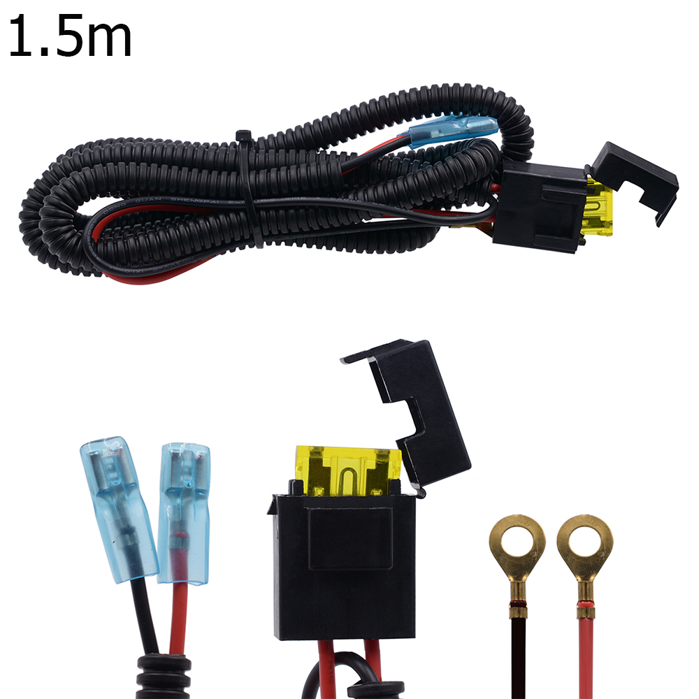 1.5M Car Motorcycle Cigarette Lighter Socket Plug Connector Cable w//20A Fuse