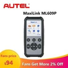 Autel MaxiLink ML609P otomatik teşhis aracı kod okuyucu OBD2 kod tarama aracı görünümü dondurmak çerçeve verileri teşhis aracı araba tarayıcı