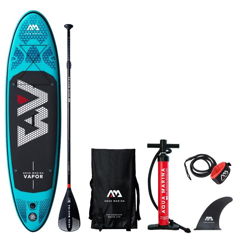 2019 tabla de surf 300*76*12 cm sup pad AQUA MARINA VAPOR inflable SUP stand up paddle junta de pesca asiento de correa inflable de kayak