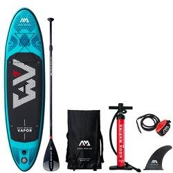 2019 tavola da surf 300*76*12 centimetri sup pad AQUA MARINA VAPORE gonfiabile SUP stand up paddle board di pesca kayak gonfiabile guinzaglio sedile