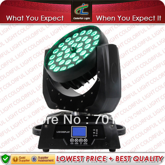 36x10W Zoom LED Moving Head Wash 4 in 1