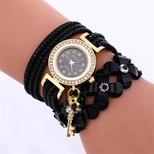 MINHIN Brand Luxury Gold Crystal Rhinestone Bracelet Watch