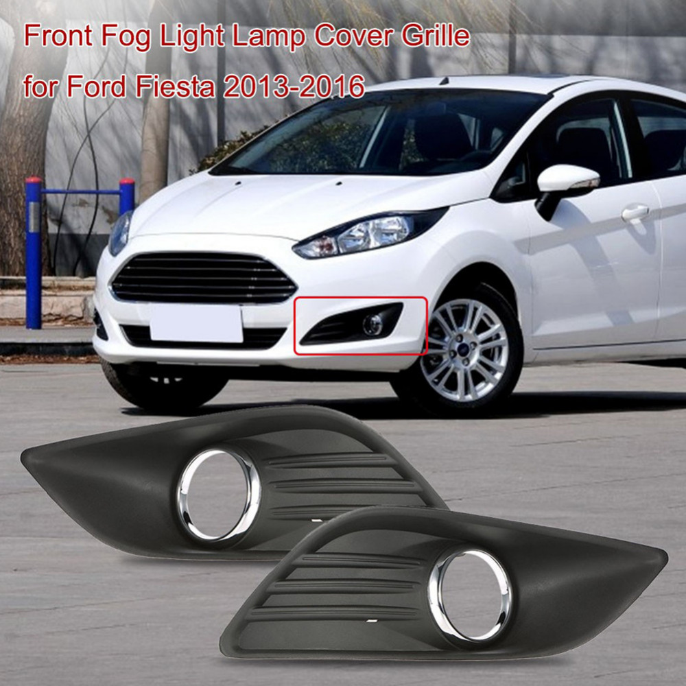 1 pair of front fog light lamp cover grille replacement for ford fiesta 2013 2016