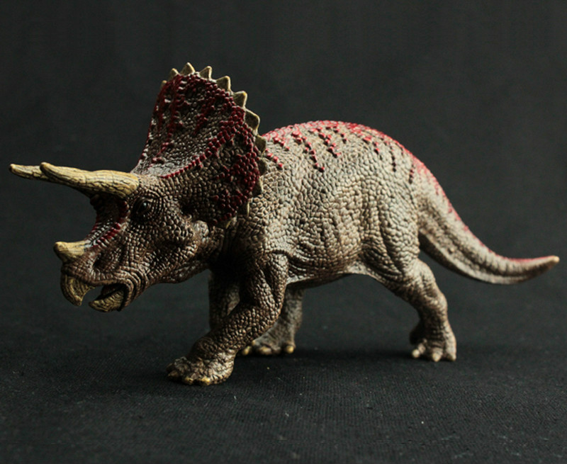 Dinosaur Figure Triceratops Model Hand Painted Soft PVC Collection Animal Model Action Toys Figures for Kids Birthday Gifts recur toys high quality horse model high simulation pvc toy hand painted animal action figures soft animal toy gift for kids