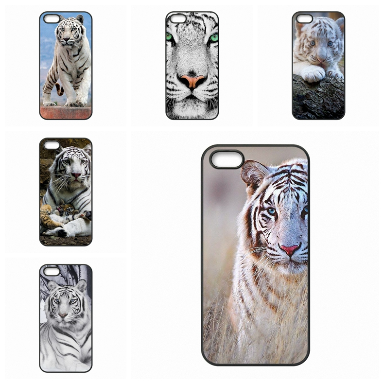 Original White Bengal Tiger For Apple iPhone 4 4S 5 5C SE 6 6S Plus 4.7 5.5 iPod Touch 4 5 6