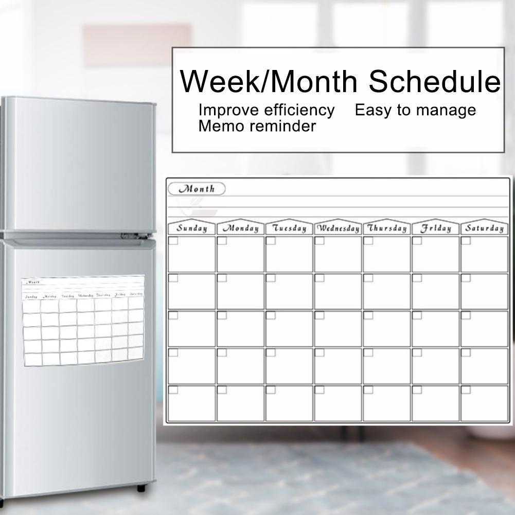 Kalender, Planer Und Karten Kühlschrank Magnetische Kalender Wöchentlich Monatlich Planer Löschbaren Schedule Sticker Abnehmbare Modische Muster
