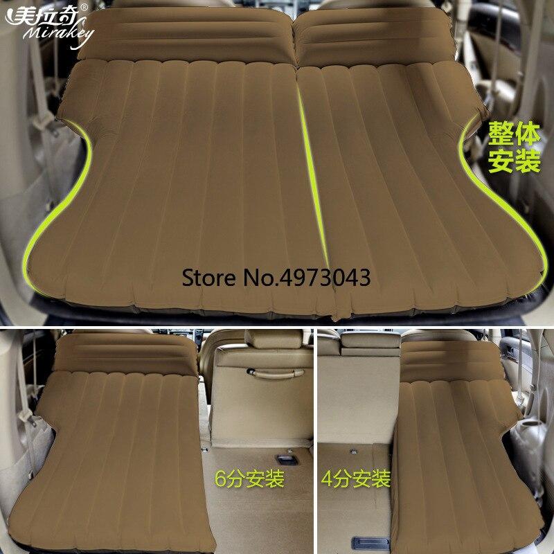 163*140 CM Camping voiture lit gonflable voiture matelas Air matelas housse de siège oreiller imperméable gonflable voiture voyage lit
