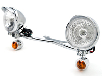 Motorcycle Accessories Parts Chrome Motorcycle Passing Light Bar & Turn Signals For Victory Cross Country