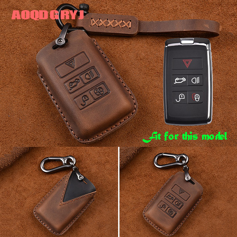 Car styling accessories 1pcs For Jaguar E PACE I PACE 2018 19 luxury Leather Key Bag Case Keyholder Key Chain-in Key Case for Car from Automobiles & Motorcycles    1