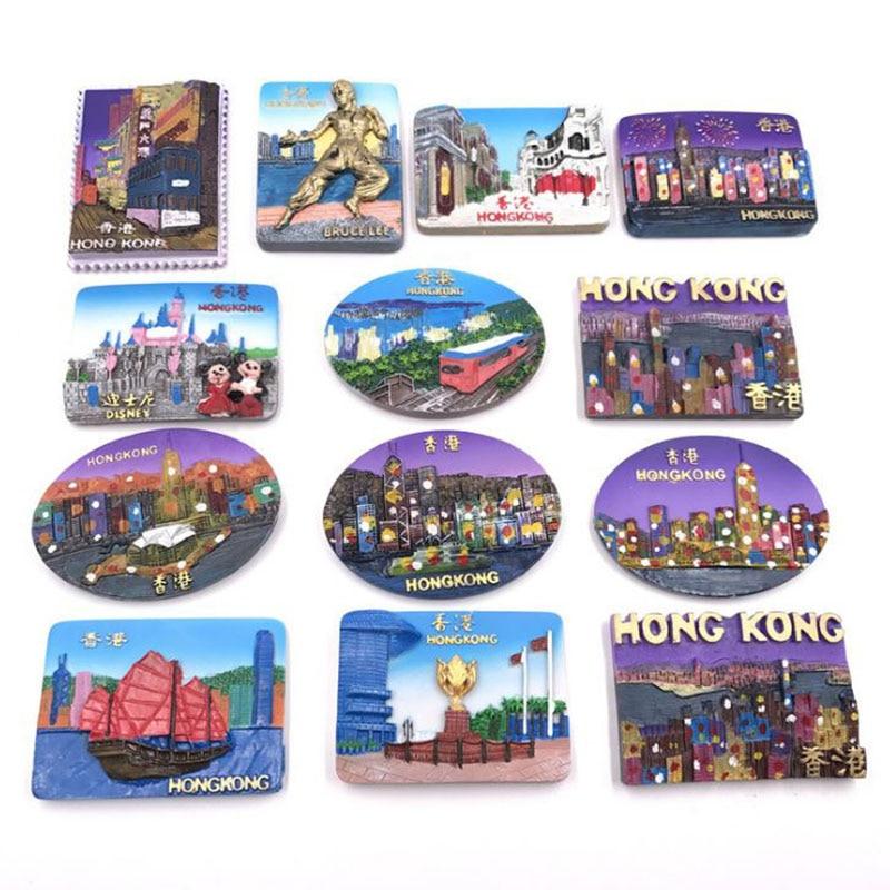 1 Pc Bekannt Hong Kong Reise Harz Kühlschrank Magnetischen Aufkleber Tourist Souvenir Kühlschrank Magnet Geschenk Für Kinder Home Dekoration Online Rabatt