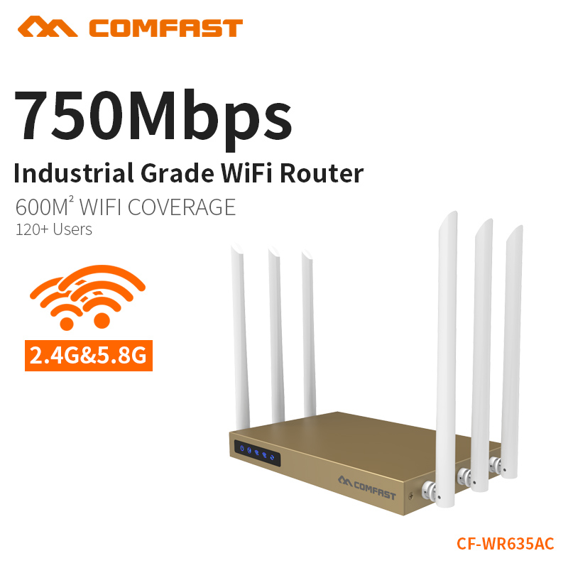 COMFAST WIFI Router English Version High Gain Antenna 750Mbps WiFi Repeater 2.4G 5GHz Dual Band WiFi Wireless Routers CF-WR635AC tp link wireless router 802 11ac ac1750 dual band wireless wifi router 2 4g 5 0g vpn wifi repeater tl wdr7400 app routers