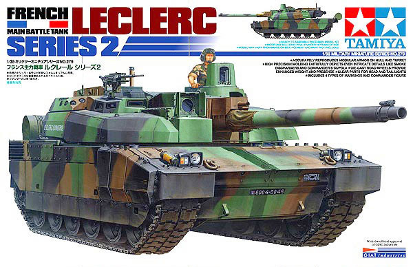 Tamiya modelo 35279 tanque de guerra francês Leclerc série 2