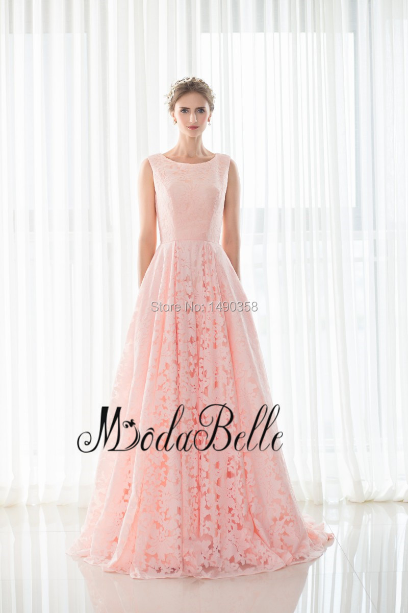 Real Image 2016 Peach Colored Flowers Floor Length Prom Dress With ...