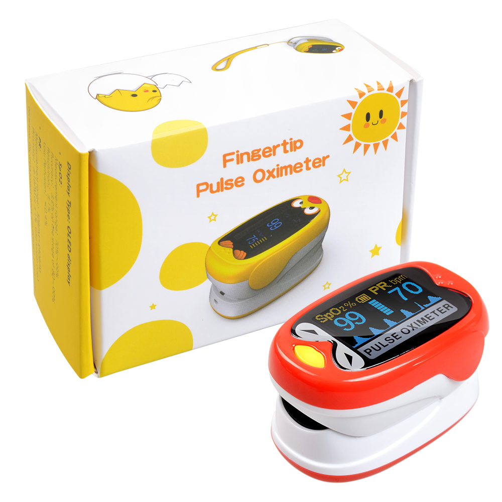 ELERA Pediatric Finger Pulse Oximeter Neonatal Blood Oxygen Saturation Infant Oximetro Pediatrico Children Kids Rechargeable USB