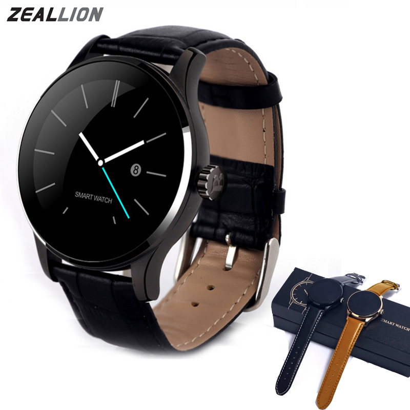 ZEALLION K88H Smart Watch Clock Sync Notifier Support Heart Connectivity Pedometer For Android iOS Phone Smartwatch smartwatch gt08 smart watch bluetooth clock sync notifier support sim card bluetooth connectivity for ios iphone android phone