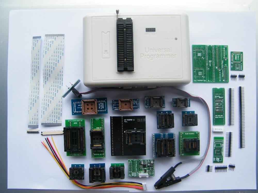 Livraison gratuite 100% d'origine RT809H MEM-Nand FLASH Extrêmement rapide universel Programmeur RT809H mieux que RT809F + 20 adaptateurs