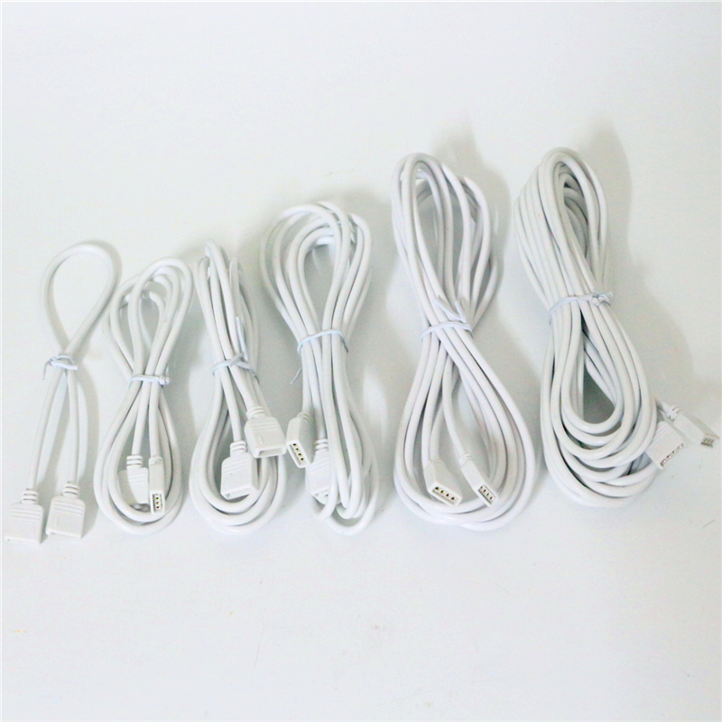 30cm 50cm 100cm 150cm 200cm 250cm 300cm 500cm 4 Pin 3528 5050 RGB LED Strip Connector Wire Extension Cable Female Extend Cord 10pcs 5 pin led strip wire connector for 12mm 5050 rgbw rgby ip20 non waterproof led strip to wire connection terminals