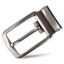 Zinc alloy pin buckle fashion casual wild belt male Semi finished product