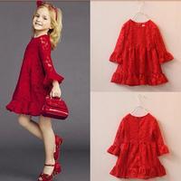 Fashion Spring Baby Girl Dress Brand High Quality Princess Dress Girl Wedding Nova Kids Girl Birthday