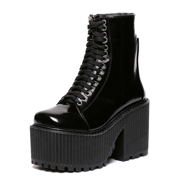 Fashion Ankle Boots For Women Platform Punk Gothic Style 1