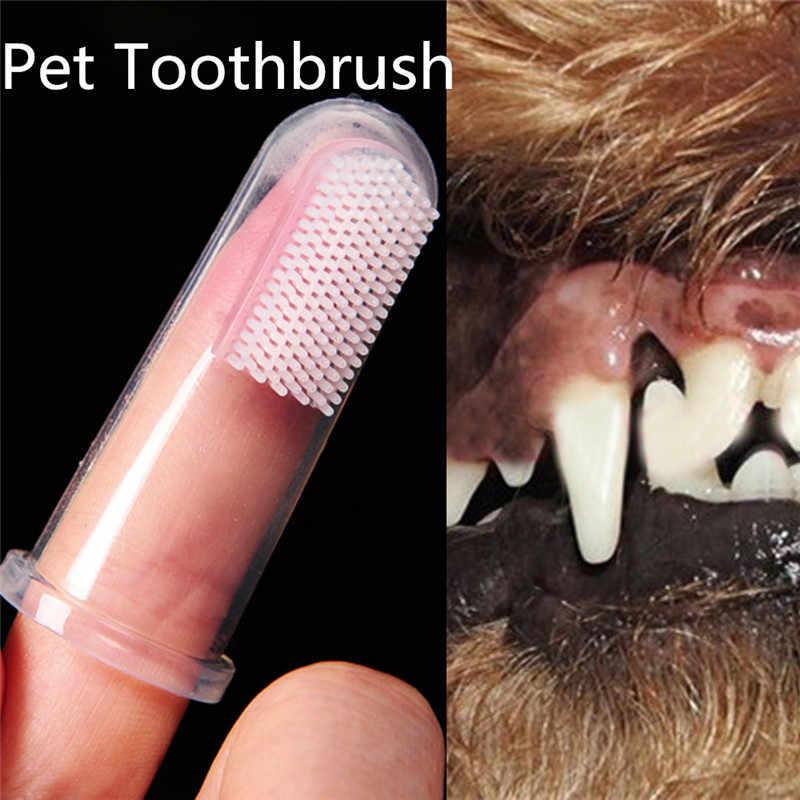 ซิลิโคนนุ่มสัตว์เลี้ยงแปรงสีฟัน Chihuahua Teddy นอกจากนี้ Bad Breath Tartar ดูแลฟันลูกสุนัขสุนัขทำความสะอาดฟันแปรง