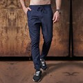 2017 Brand New Stylish Mens Pants Drawstring Slim Casual Solid Straight Long Trousers Male Outdoors Cargo Pants Pantalon Home