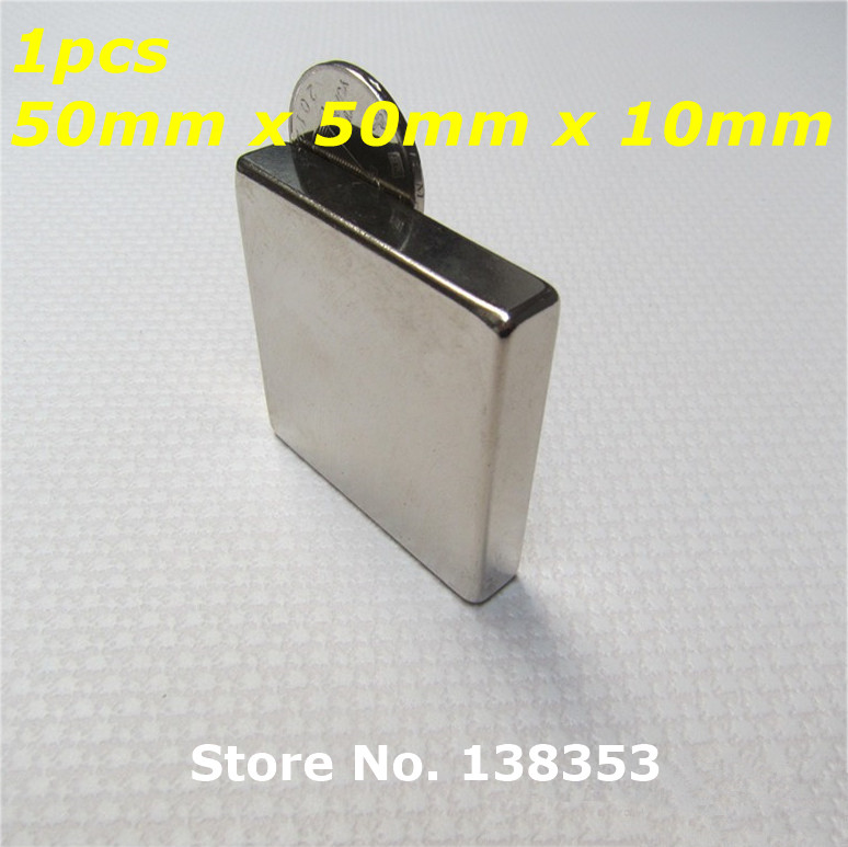1pcs Bulk Super Strong Neodymium Square Block Magnets 50mm x 50mm x 10mm N35 Rare Earth NdFeB Cuboid Permanent Magnet 2pcs bulk super strong neodymium rectangle block magnets 50mm x 30mm x 5mm n35 rare earth ndfeb rectangular cuboid magnet
