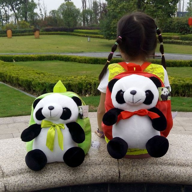 New Stuffed Animals Panda Cartoon Plush Backpack Toy For Children Gift 6 Colors Option