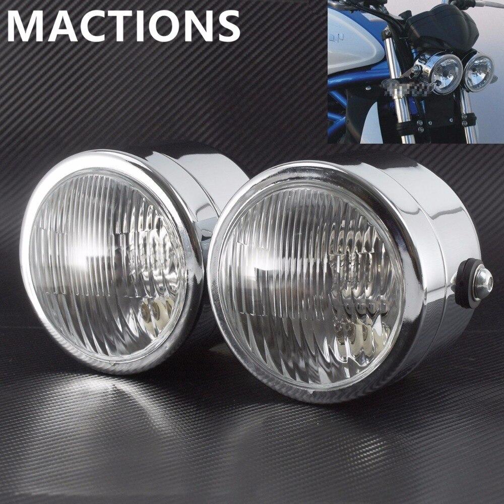 Hot Sale new Motorcycle Retro twin Headlight Double Dual