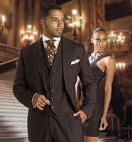 Latest Coat Pant Designs Gray Men Suits Slim Fit Tailored Groom Suit Prom Party Tuxedo 3 Piece Blazer Jacket+Pants+Vest Ternos
