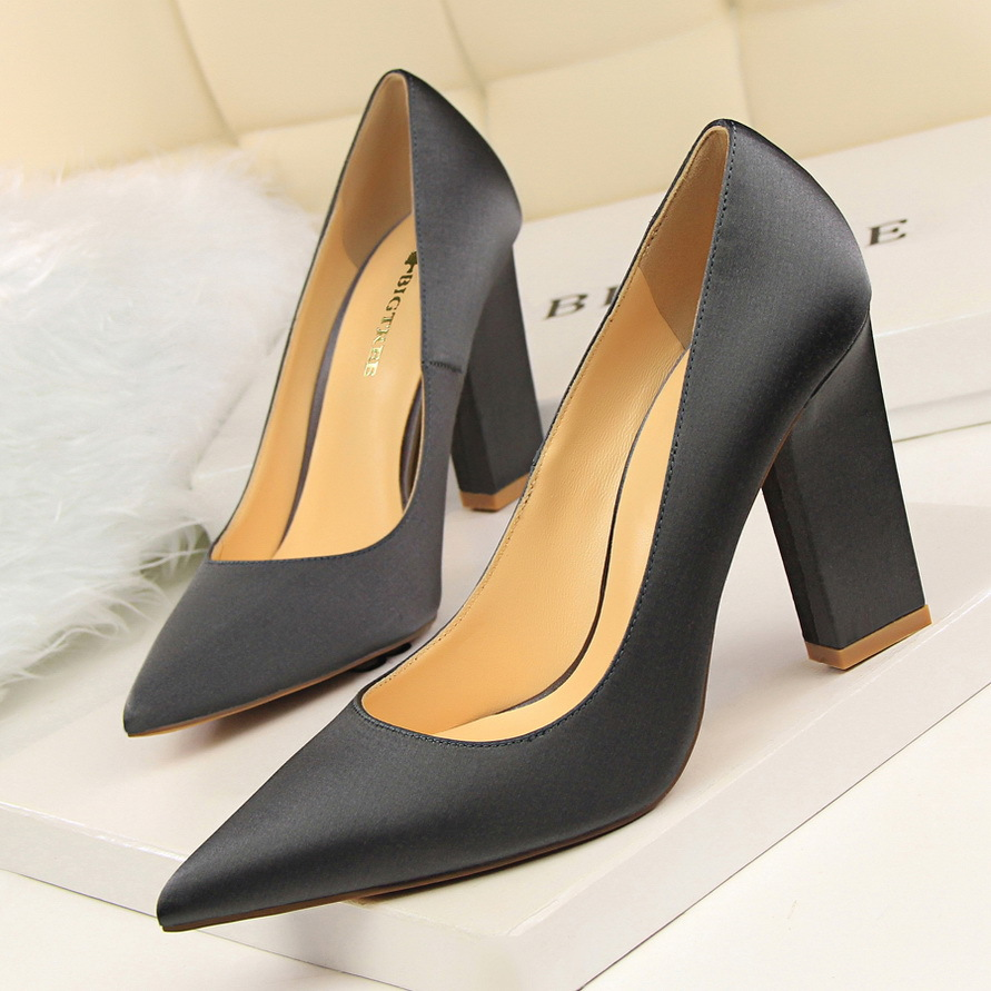 HOT 2017 Sexy Women High Heels Suede Party High Heel Pumps Ladies Wedding Shoes Office Thick