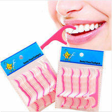 2018 New Disposable 100 Pcs Oral Hygiene Dental Flosser Interdental Brush Teeth Stick Toothpicks Floss Pick Tooth Picks F008-3(China)