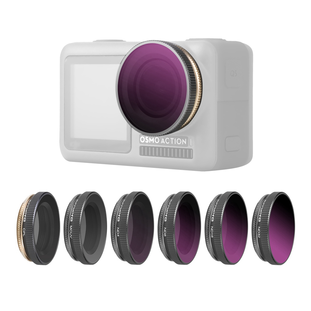MCUV//CPL//ND4////ND8//ND16//ND32 Camera Lens Filters for DJI OSMO Action Camra
