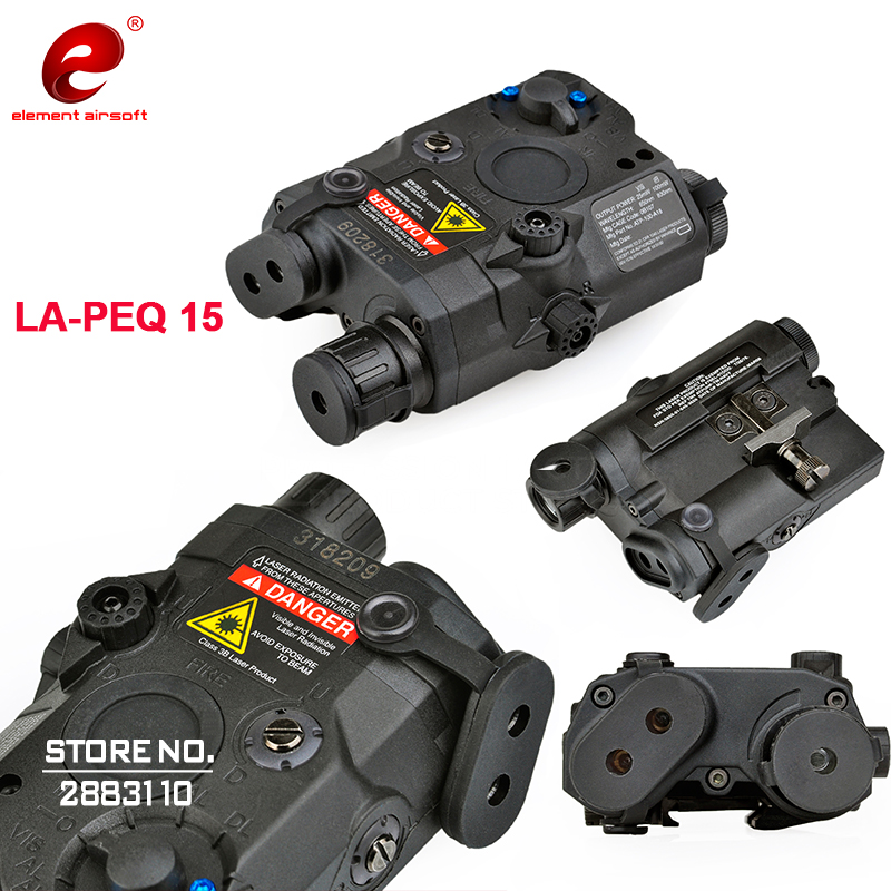 Element Airsoft LA AN PEQ 15 Rifle Lights Softair Tactical Red Dot Integrated with Red Laser
