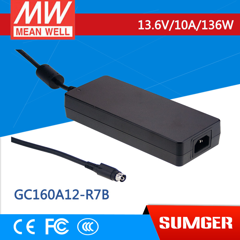 1MEAN WELL original GC160A12-R7B 13.6V 10A meanwell GC160 13.6V 136W Single Output Battery Charger 1mean well original gc160a24 ad1 27 2v 5 89a meanwell gc160 27 2v 160 2w single output battery charger