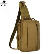 MAGCOMSEN Hommes 1000D Nylon Imperméable Poitrine Sacs Voyage Sling Pack Messenger Épaule Sac Casual Ipad Pack AG-BJDN-041